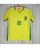 Neymar JR CBF #10 Brazil National Soccer Team Dri-Fit Top Shirt Men Sz S - $19.95