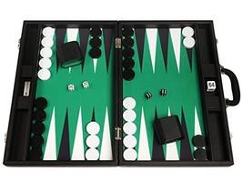 19-inch Premium Backgammon Set - Large Size - Black Board, Green Playing... - $157.41