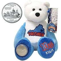 Limited Treasures Coin Bear Virginia 10th State New with Tags NWT - $11.13