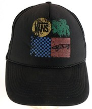 Vans Off the Wall Worn Distressed Mesh Trucker Snapback Cap Hat - $7.42