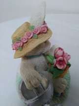 "Watch You Grow ""Bunny Planting Flowers #629383 1993 Enesco Corporation Figurine image 5"