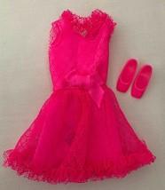 Vintage Barbie Francie MOD Pink Power! #1762 Dress & Shoes  313-23 - $55.00