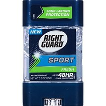 Right Guard Sport Clear Gel Antiperspirant, Fresh, 3 Ounce Pack of 6