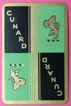 1 x Playing Card Single Swap Cunard cruise line Shipping green ZS011 - $1.59