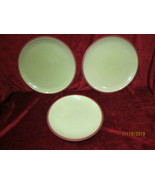 Denby Juice Apple green set of 2 dinner plates and 1 salad plate - $29.65