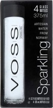 Voss Artesian Water Sparkling Glass Bottles, 12.6-Ounce Pack of 12