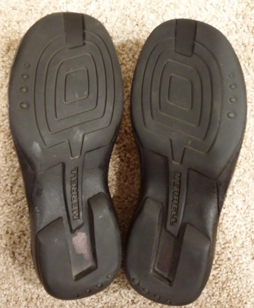 Merrell Air Cushion TETRA Loafer Leather Womens Sidewalk Slides Shoes Sz 5.5 M.