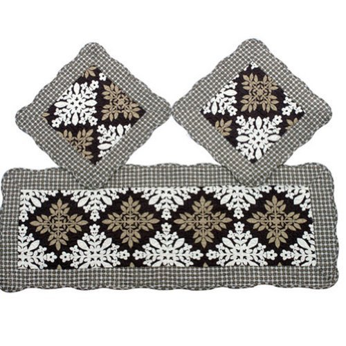 PANDA SUPERSTORE Set of 3 Cotton Seat Cushions/General Car Cushion/Sofa Cushion,