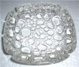 Vintage Blenko Mid-Century Clear Glass Pebble Stone Design Ashtray Table... - $25.00