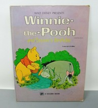 Walt Disney Winnie the Pooh and Eeyore's Birthday A Big Golden Book 1976 HC - $8.45