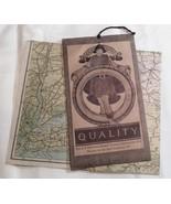 Maxfield Parrish Map FOLDER BF Goodrich Rubber Co. Tire 1924 Advertising... - $18.99