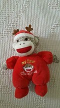 """Magic Years 8""""MY First Christmas Sock Monkey Rattle Plush Infant Toy Doll,Baby, - $9.08"""
