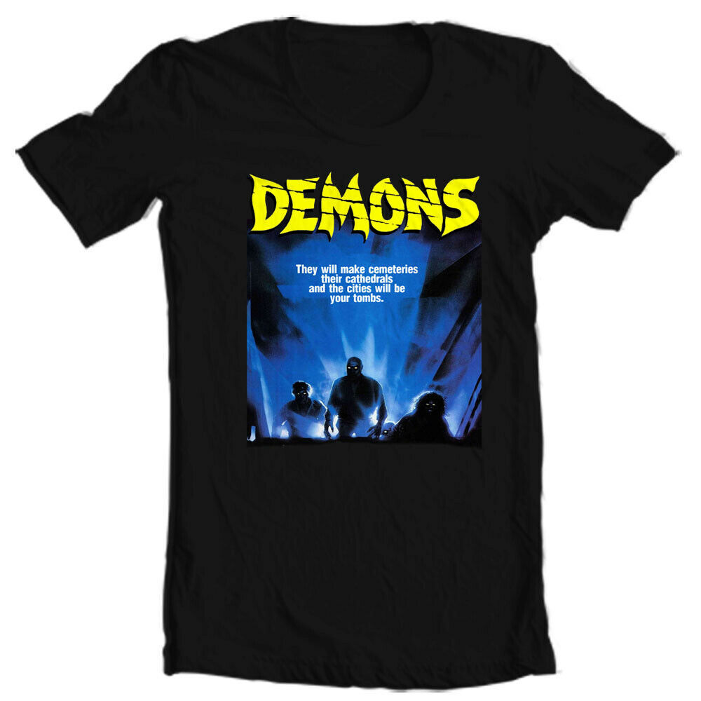 Demons movie T-shirt Demoni Italian vintage classic horror Poster graphic tee