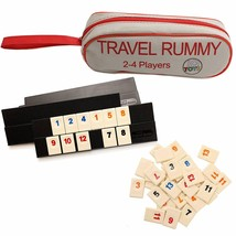 106 Tiles Travel Rummy In A Strong Travel Bag - For 2-4 Players - $14.84