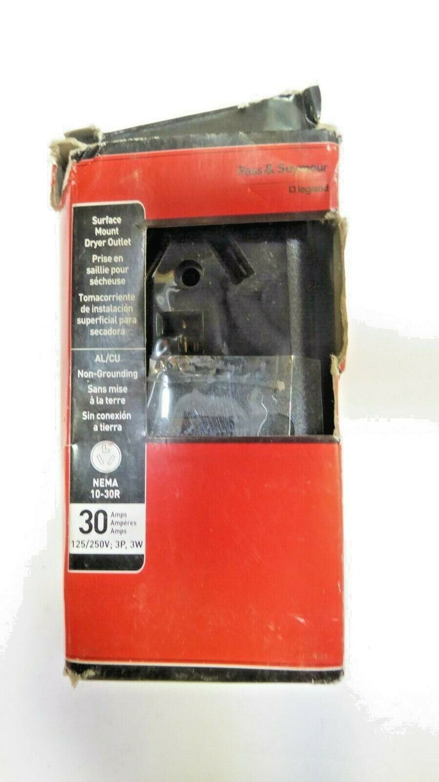 Pass & Seymour Legrand 388CC6 Surface Mount Dryer Outlet Pack of 5 New