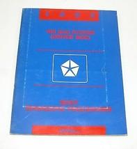 1993 Chrysler Dodge Driver LH Side Airbag Body Diagnostic Procedure Manual - $8.86