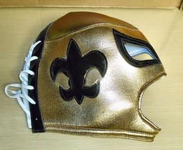 Fleur-De-Lis Black & Gold- Mexican Wrestling Mask - $12.86