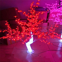 4 ft red LED Christmas wedding decor night Light Outdoor Crystal Cherry Tree New - $157.41
