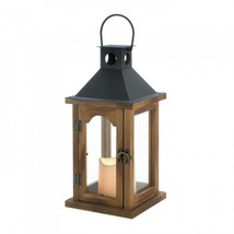 Simple Rustic Lantern With Led Candle - $24.92