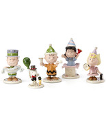 Lenox Peanuts Happy New Year Figurines Eve Party Charlie Brown Snoopy Lu... - $148.00