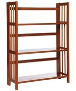 "Casual Home 3-Shelf Folding Stackable Bookcase 27.5"" Wide-Mahagony - $53.74"