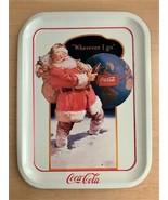 "Vintage 1990 Coca Cola Santa ""Wherever I Go"" Tin Serving Tray - 13.75"" x... - $8.91"