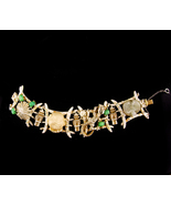 Vintage Har Dragon Bracelet - medieval  DRAGON - Buddha head - Chinese f... - $375.00