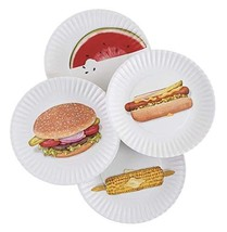 BBQ Picnic 9 Melamine Plates, Set of 8 8