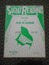 Old Vintage c. 1953 Sight Reading for Piano by John W Schaum Book 2 Belw... - $9.99