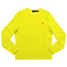 Polo Ralph Lauren Womens M MEDIUM MD Crew Neck Wool Cashmere Sweater YEL... - $92.57