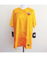 NWT New Nike Authentic AS Roma Soccer Jersey Yellow Orange Mens Large - $79.99