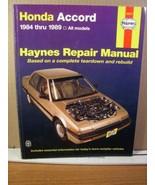 Haynes Repair Manual Honda Accord 1984-1989  (1998) 42011 - $13.49