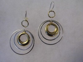Pair Pierced Earrings Silver Gold Tone Small Hoop Costume Fashion Jewelry - $10.66