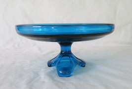 Viking, Arching Thumbprint, Compote, Bluenique #7006, circa 1970, without Drape - $32.00