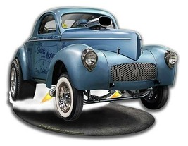 SWC Willys by Larry Grossman Plasma Cut Metal Sign - $35.00
