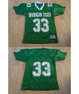 Youth Michigan State Spartans #33 S/M Vintage Football Jersey (Green) Je... - $28.04