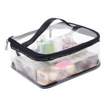 Large travel Waterproof Transparent Cosmetic Bag Clear Organizer Makeup ... - $9.11