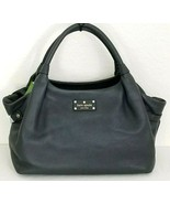 KATE SPADE STEVIE BERKSHIRE ROAD ASPHALT DARK GREY LEATHER SATCHEL BAGNWT! - $229.99
