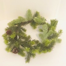 NEW Artificial Ashland Garland Wreath Pine Leaves Mini Cones Christmas D... - $18.71