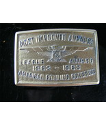 1962-63 American Bowling Congress Belt Buckle Most Improved Average All ... - $14.80