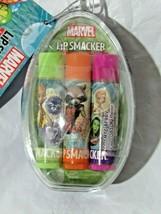 Lip Smacker Marvel Balm 3 Pack Glazed Donut Rocket Road Berry net wt.42oz - $17.99