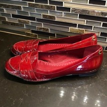 Vince Camuto red patent leather loafers - $41.58