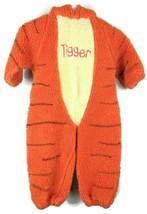 Disney One Piece Tigger Kids Costume Pajama Sz 2-4t Toddler Hooded Cartoon Tiger - $30.23
