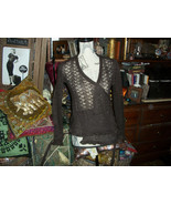 TED BAKER London Sassy Chocolate Mohair Blend Cardigan Size 1 - $20.79