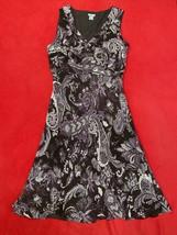 Ann Taylor Purple Paisley Silk Dress Women's Size 12 - $37.03