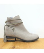 7 - Sorel Taupe Brown Farah Wrap Ankle Suede Almond Toe Short Boots 1016KM - $85.00