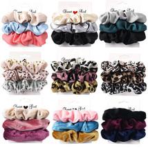 3PCS Vintage Velvet Leopard Set Elastic Hair Bands Headband Ponytail Hol... - $9.99