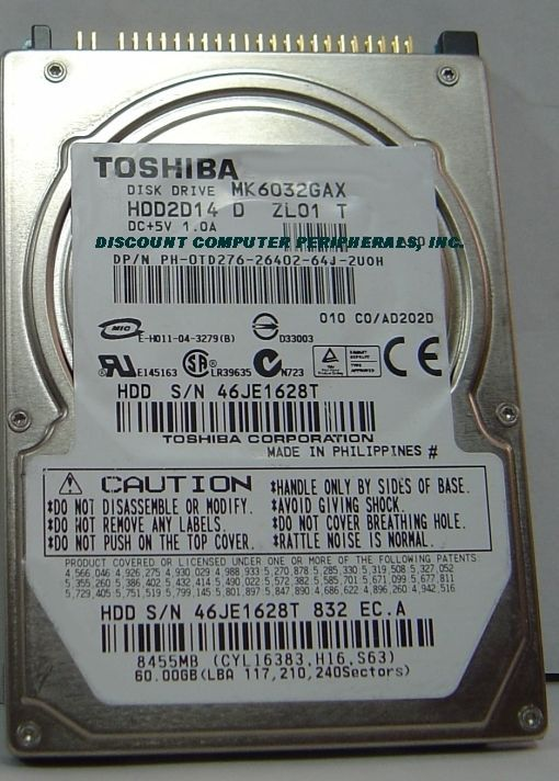 MK6032GAX HDD2D14 Toshiba 60GB 2.5 in IDE Drive Free USA Ship Our Drives Work