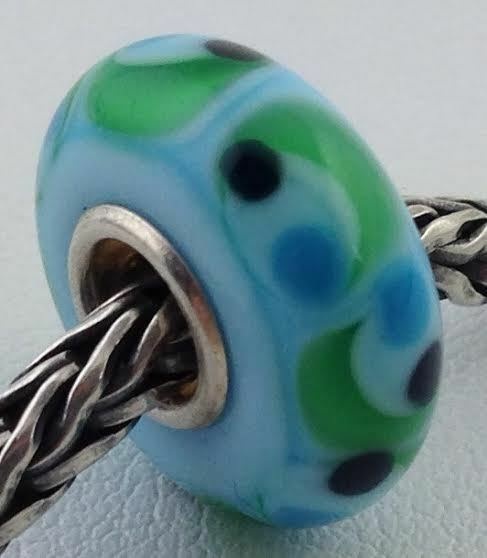 Primary image for Authentic Trollbeads Ooak Universal Unique 161 Murano Glass Bead Charm Fits All