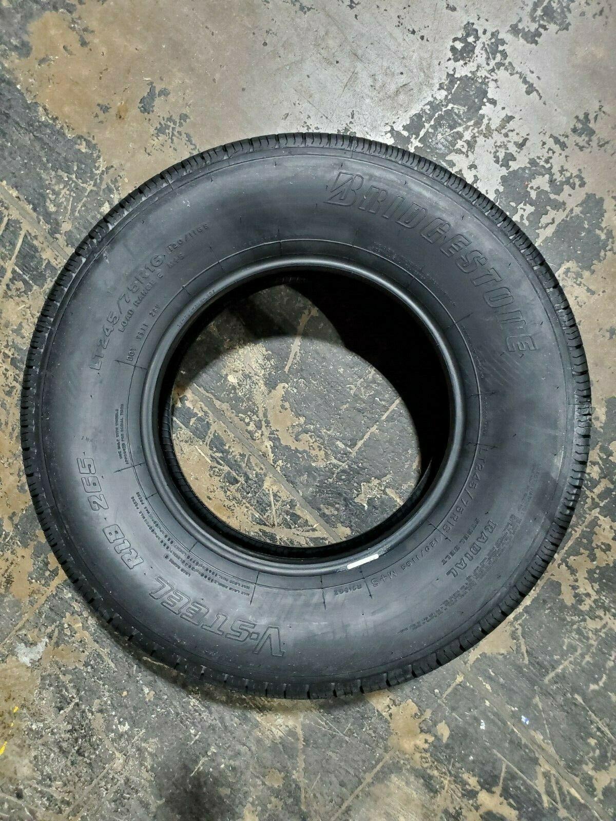 LT245/75R16 Bridgestone V-STEEL RIB 265 120/116S M+S 10PLY LOAD E 80PSI image 3